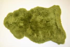 Gekleurde schapenvacht fel groen
