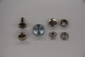 Schelp voor het zetten van rivetten en drukknopen.