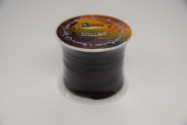 Rol plat kalf leder lint 2,3 mm donker bruin.