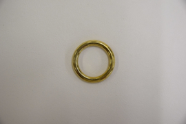 O-Ring massief messing 22 mm.
