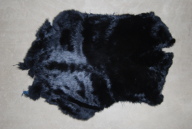 Konijnenhuid of konijnenvachten  zwart
