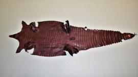 Krokodillenleder brons metallic.
