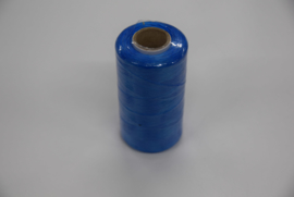 Plat splitsbaar gewaxt nylon garen blauw.