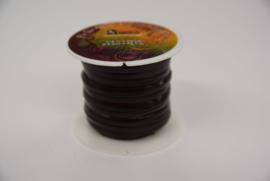 Rol plat leder  lint 3,2 mm bruin.