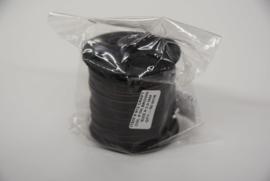 Rol plat leder  lint 3 mm donker bruin 912.