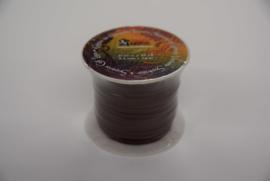 Rol plat kalf leder lint 2,3 mm bruin.