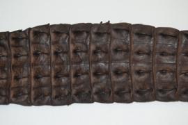 Krokodillenleder rug bruin.