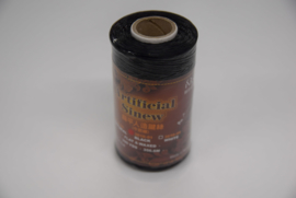 Plat splitsbaar gewaxt nylon garen zwart.