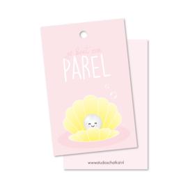 je bent een PAREL (roze) | kadolabels