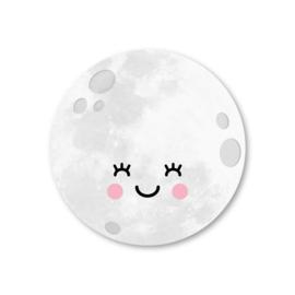 maan | 5 ronde stickers
