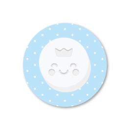 pepermuntje | 5 ronde stickers