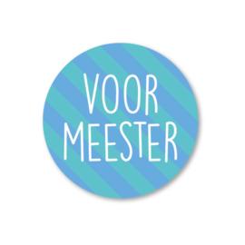 voor meester | 5 ronde stickers