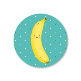 banaan | 5 ronde stickers
