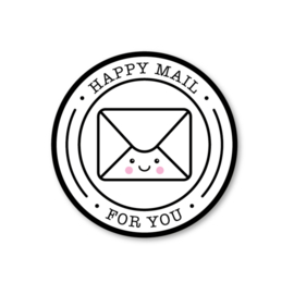 happy mail for you | 5 ronde stickers