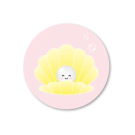 parel (roze) | 5 ronde stickers