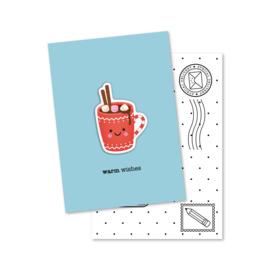 WARM wishes | magneetkaart