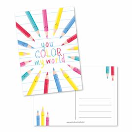 you color my world | kaarten