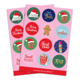 stickervel Kerst | stickervel A5