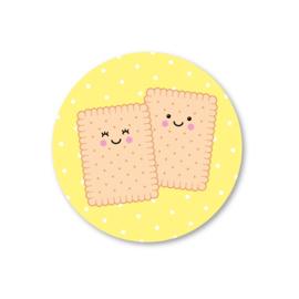 twee biscuitjes | 5 ronde stickers