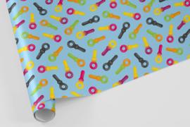 Kado/kaftpapier | snoepsleutels, per stuk verpakt