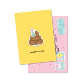 hapPOO birthday | magneetkaart
