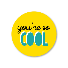you're so cool | 5 ronde stickers