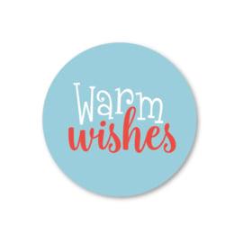 warm wishes | 5 ronde kerststickers