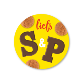 liefs S & P | 5 ronde sinterklaasstickers