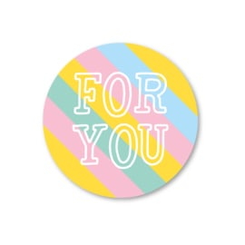 for you | 5 ronde stickers
