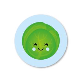 spruitje (blauw) | 5 ronde stickers