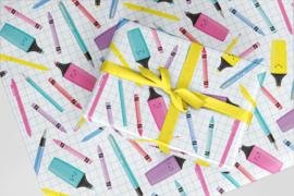 Kado/kaftpapier | stationery, per stuk verpakt