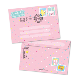 happy MAIL for you, roze | enveloppen