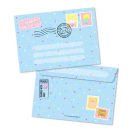 happy MAIL for you, blauw | enveloppen
