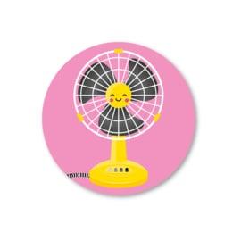 5 Stickers | ventilator, geel