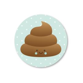 poepie (mintgroen) | 5 ronde stickers