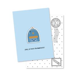 pap, je bent fanTAStisch! | magneetkaart