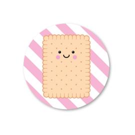 biscuitje | 5 ronde stickers