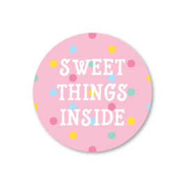 sweet things inside | 5 ronde stickers