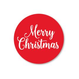 Merry Christmas   5 ronde kerststickers
