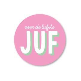 voor de liefste juf | 5 ronde stickers