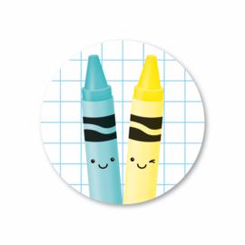 5 Stickers | krijtjes, ruit