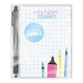 ONBESCHRIJFLIJKE ideeën | kadoset met notitieblokje A6 en pen