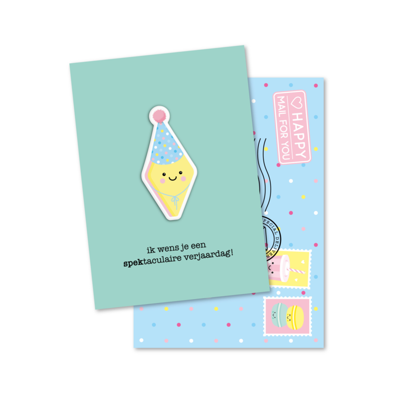 ik wens je een SPEKtaculaire verjaardag | magneetkaart