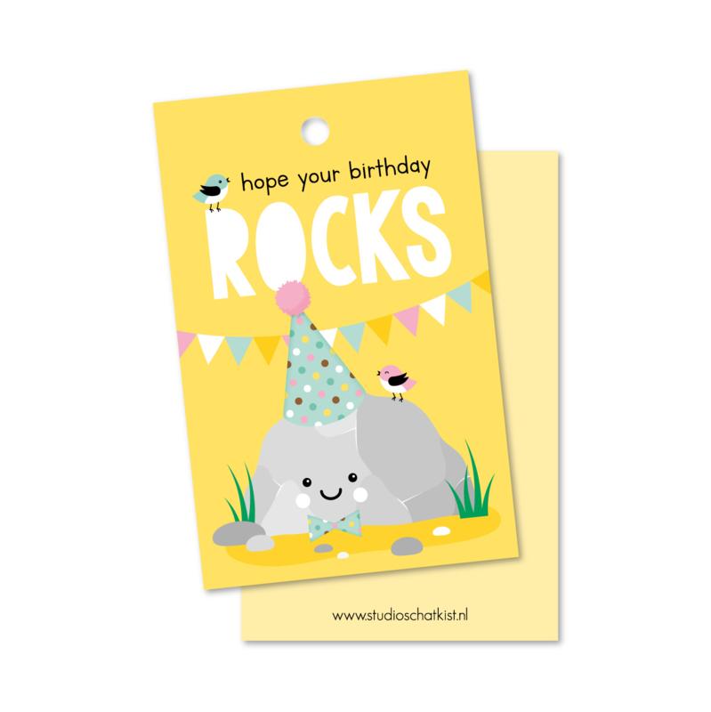 hope your birthday ROCKs   kadolabels