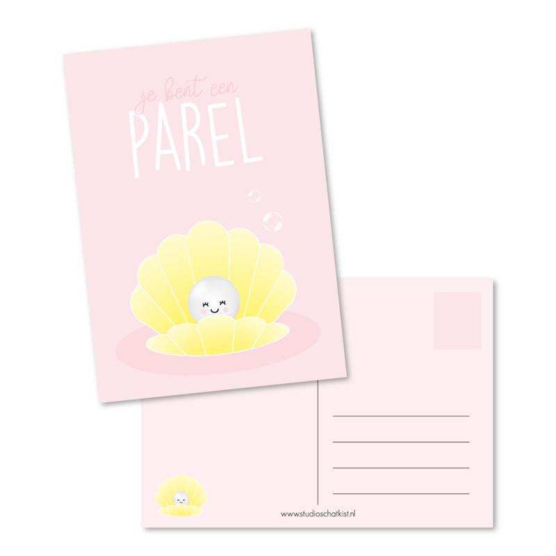 je bent een PAREL (roze) | kaarten