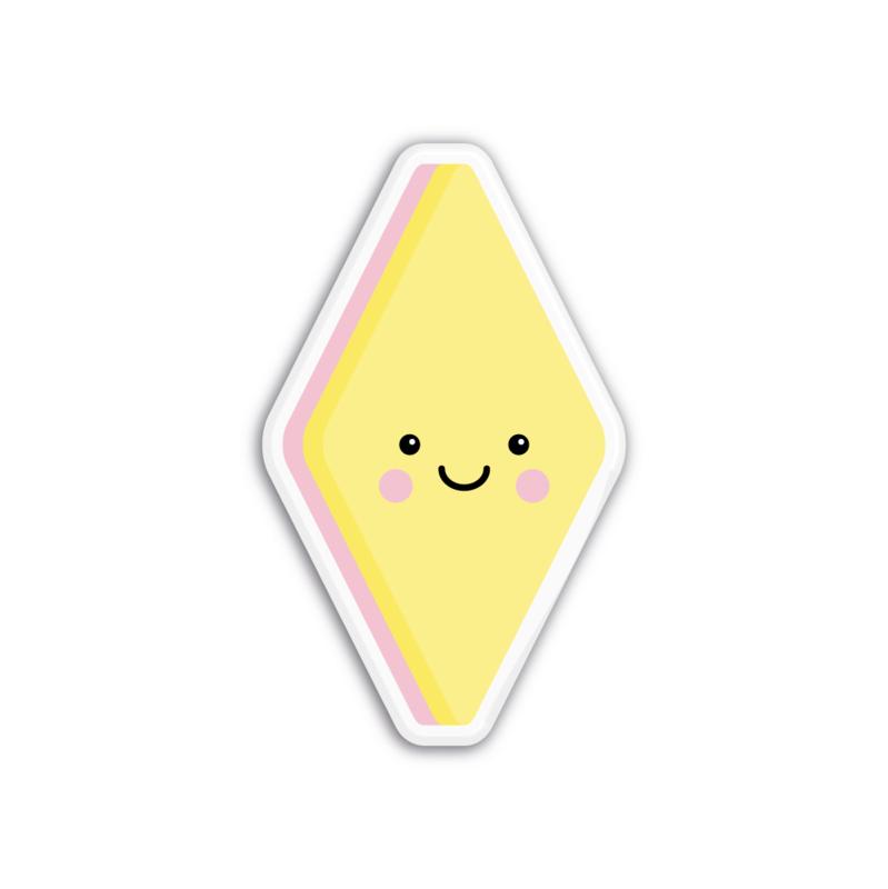 geel spekje | magneet