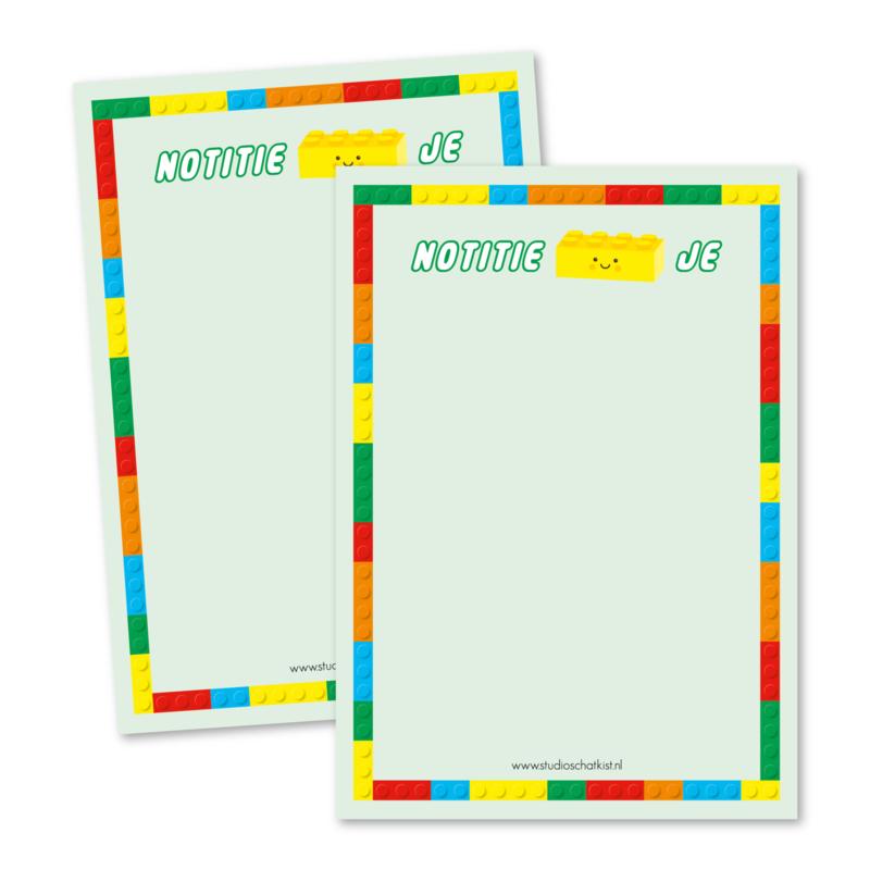 Lego   notitieBLOKje (groen)   notitieblokje A6