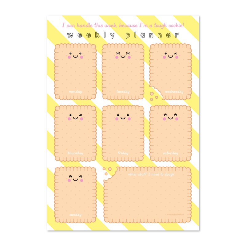 Weekplanner A4 | cookie