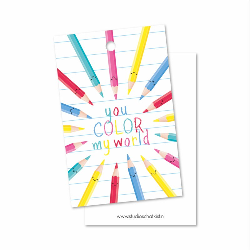 you COLOR my world | kadolabels