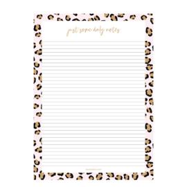 Schrijfblok A4 | Pink Leopard